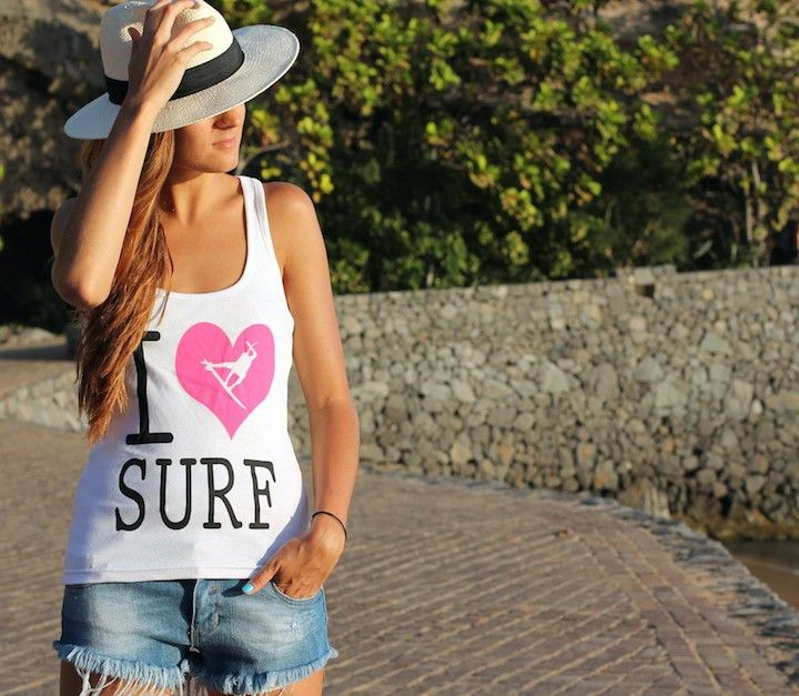 Camiseta I Luv Surf! www.liketosurf.com