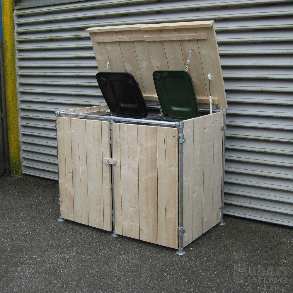 steigerhouten container ombouw jasper poubelle. Black Bedroom Furniture Sets. Home Design Ideas