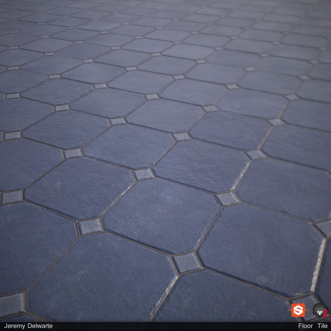 Artstation Floor Tile Texture Jeremy Delwarte Texturing Son