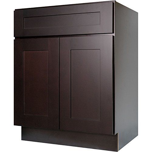 Merveilleux Everyday Cabinets 27 Inch Base Cabinet In Shaker Espresso With 1 Soft Close  Drawer U0026 2