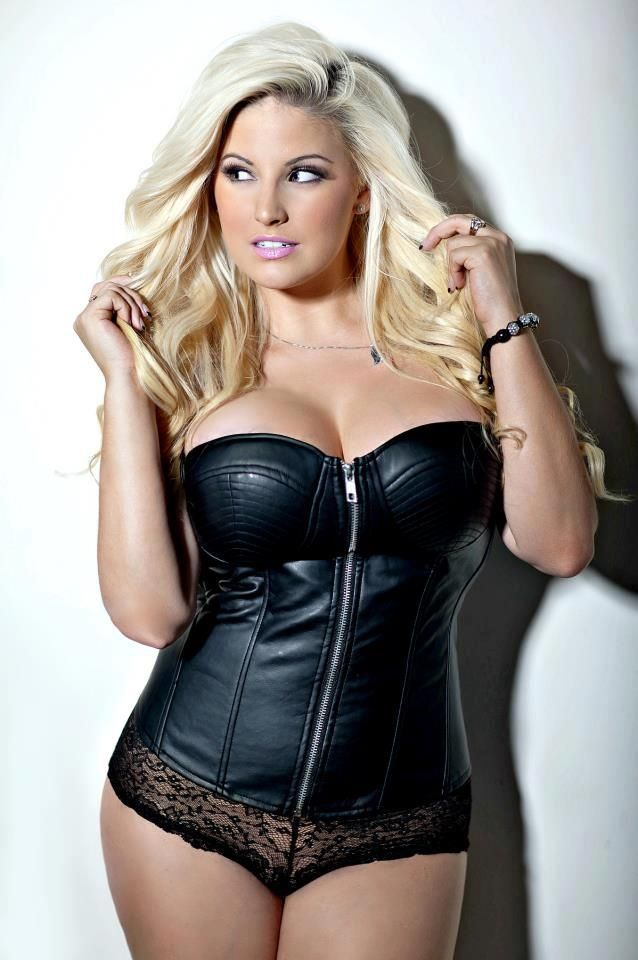 03dbb52ef Ashley Alexis hot curvy model  lingerie  leather  corset  plus  size  sexy   blonde