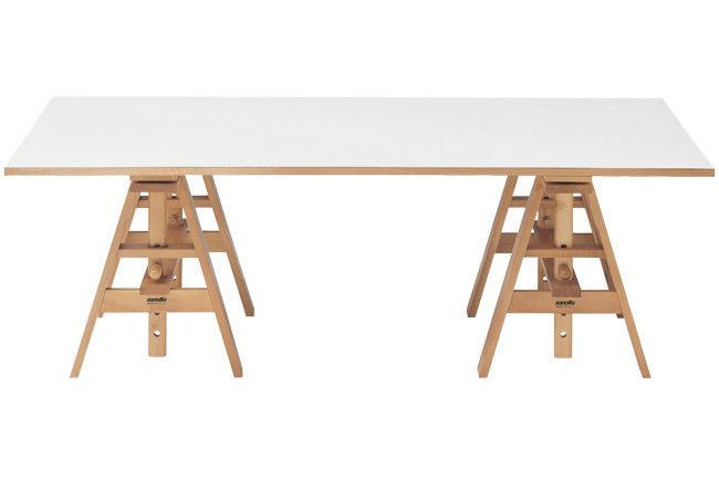 Etonnant Achille Castiglioni The 1950 Leonardo Table Is A Basic Height Adjustable  Trestle Table Free Of Extraneous Parts And Resolved To Perfection.