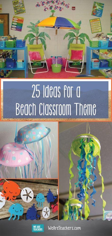 25 Sand-sational Beach-Themed Classroom Ideas images