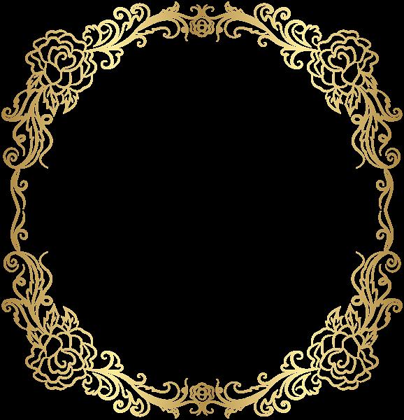 Deco Golden Border Frame Png Clip Art Borders And Frames Clip Art Free Clip Art