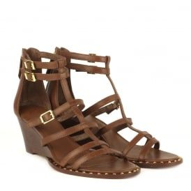 NUBA BIS Wedge Sandals Cacao Leather