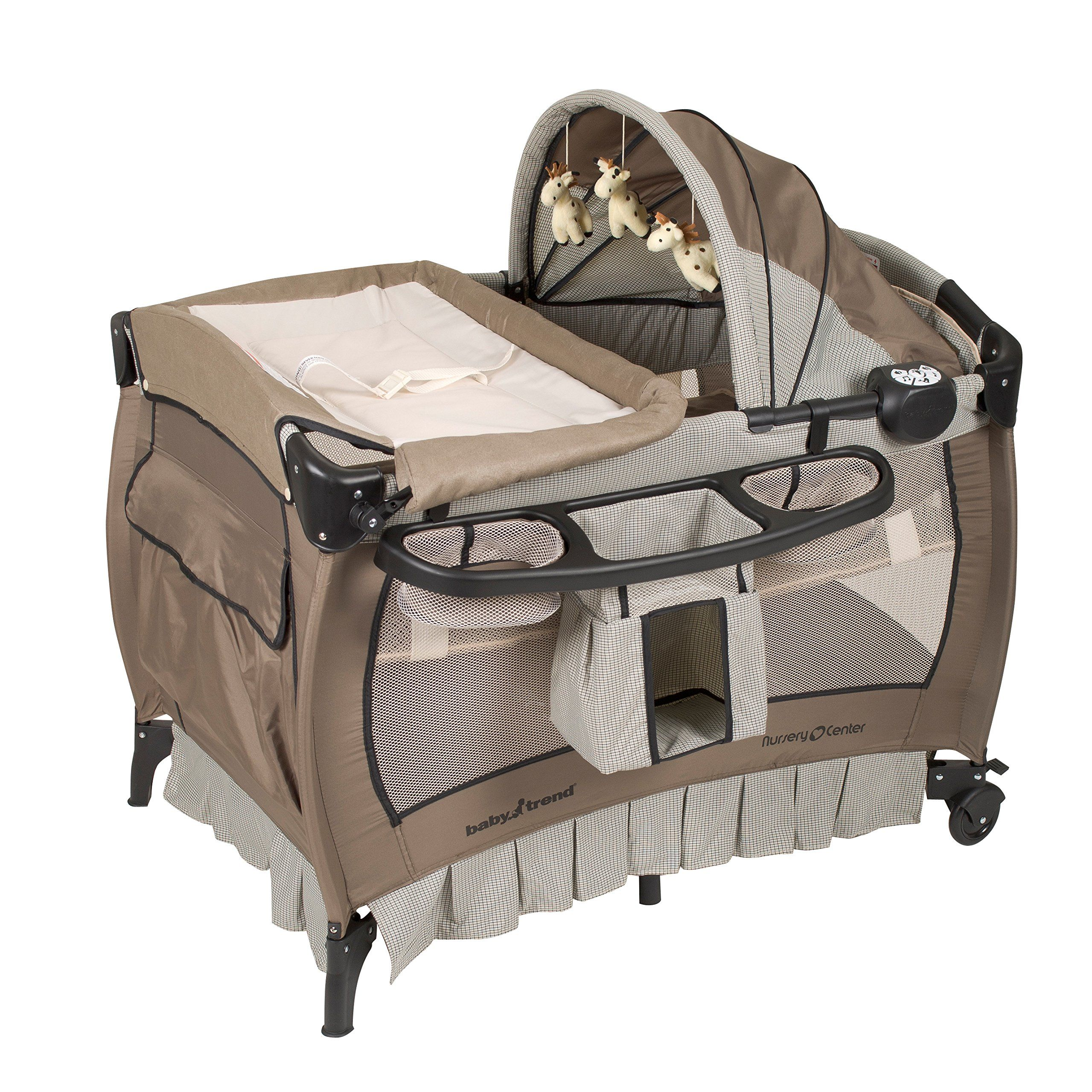 Baby Trend Deluxe Nursery Center Haven Wood Removable full