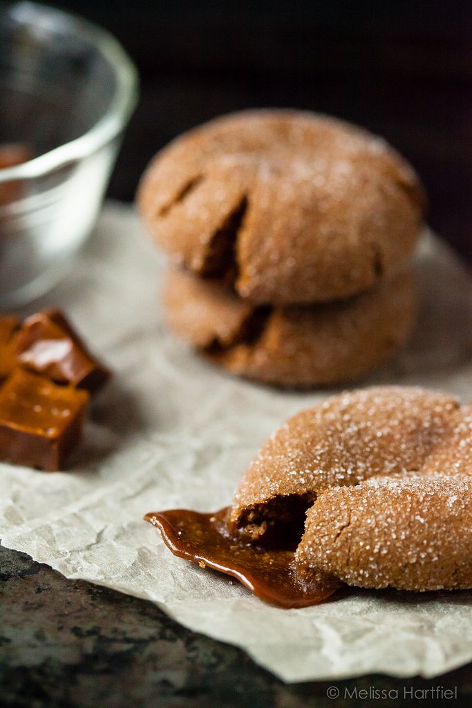 Ginger Molasses Cookies Stuffed With Molasses Kisses | Eyes Bigger Than My Stomach