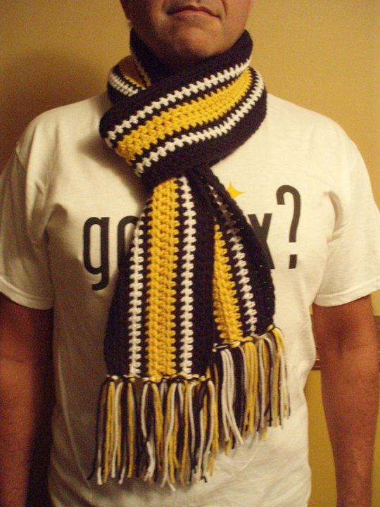 """Steelers """"Home"""" Scarf - need to make these for everyone as ..."""