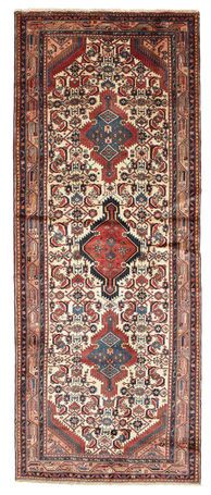 The Hamadan carpet is knotted in 500-600 villages in an area surrounding the city of Hamadan in northwestern Persia. Every village or smaller group of villages, has its own obvious distinctive character.