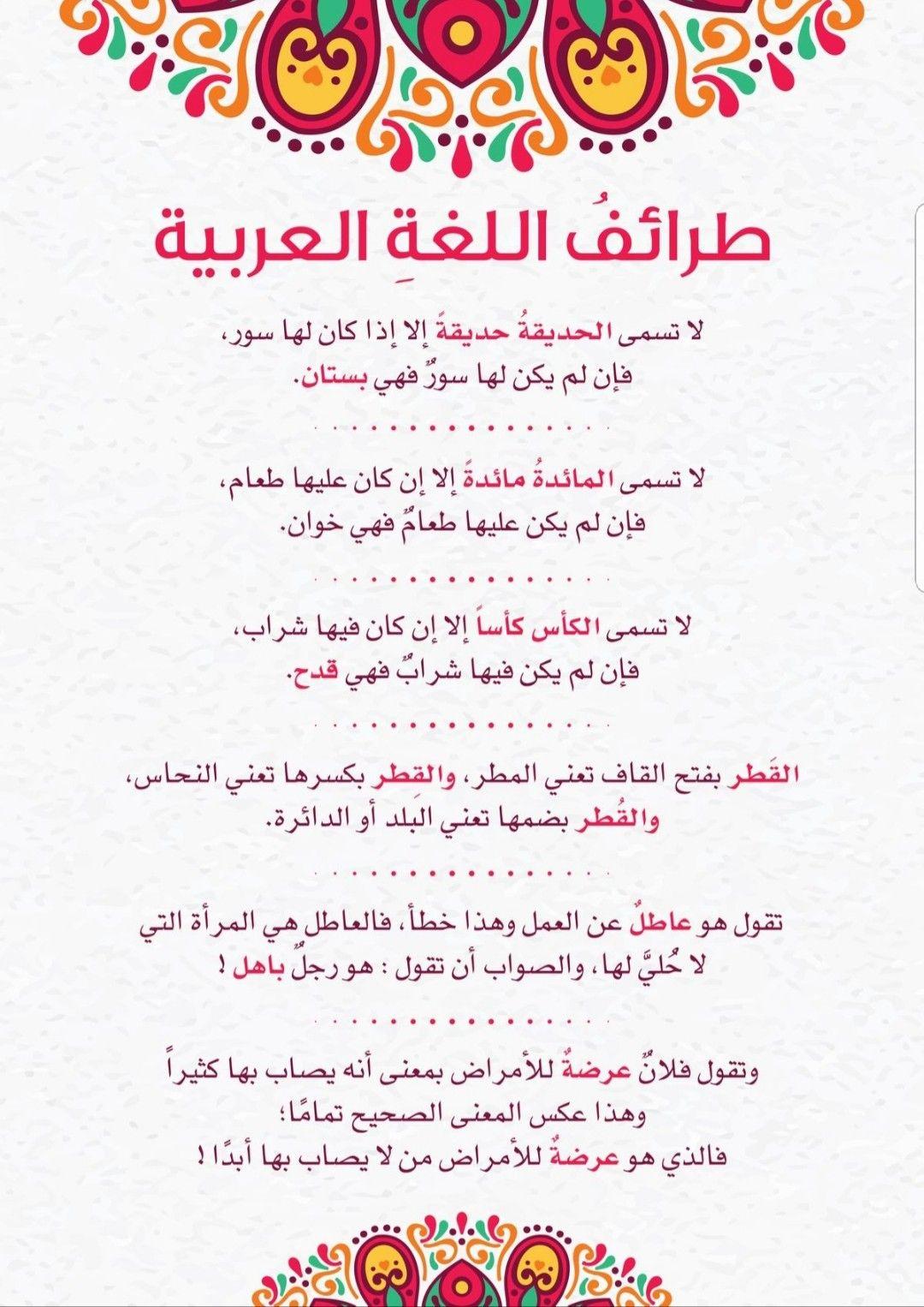 Pin By Nejib Marrakchi On معلومات عامه لغه عربيه Arabic Quotes Arabic Language Learning Arabic
