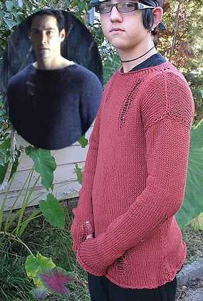 Knitting Pattern for Matrix Sweater Suss Cousins is a