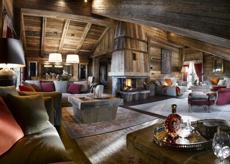 salon et décoration d'intérieur chalet montagne