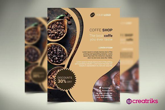 Coffee Shop Flyer  Coffee Shop Presentation Templates And