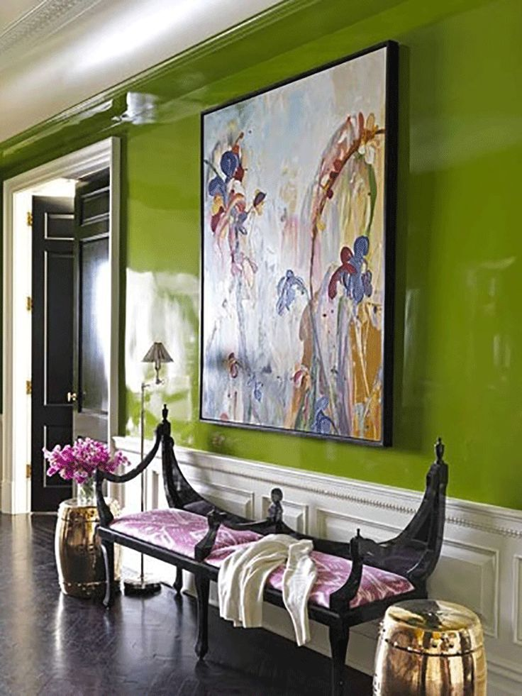lime green + hints of pink