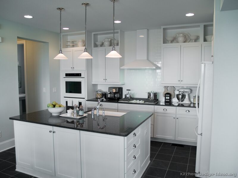 Traditional White Kitchen Cabinets #01 Kitchendesignideas Custom Traditional White Kitchen Cabinets Design Inspiration