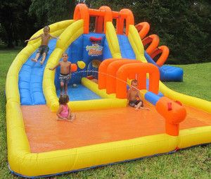 Summer Blast Water Park Inflatable Water Slide New
