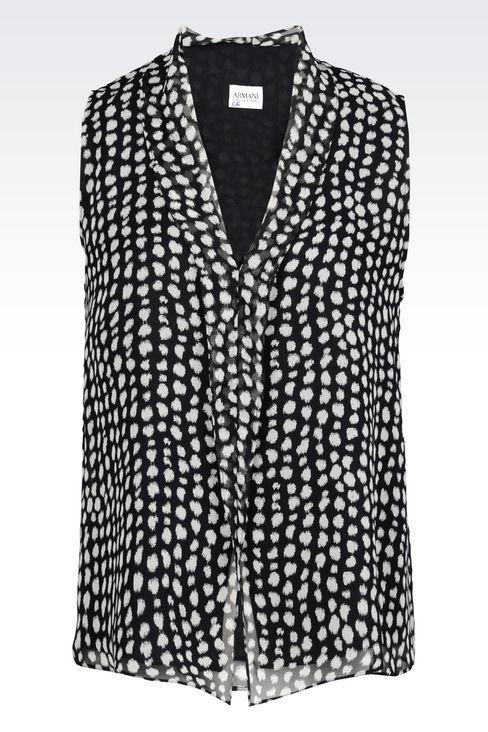 64a5b68f1e42a Armani Collezioni Women Sleeveless Top - CHIFFON TOP Armani Collezioni  Official Online Store