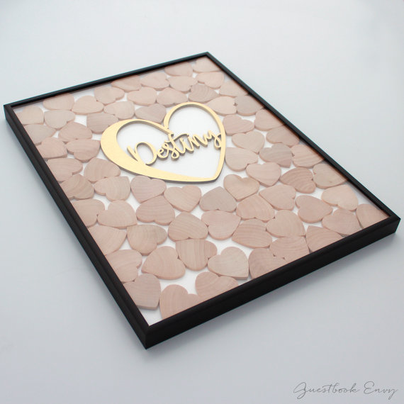 Custom Wedding Drop Box Guest Book By Guestbookenvy