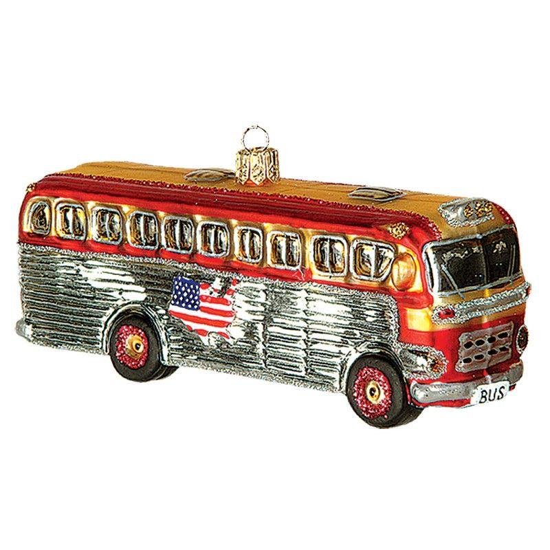 Christbaumschmuck amerikanischer reisebus weihnachtsbaumschmuck christbaumschmuck baum und - Ausgefallene weihnachtskugeln ...
