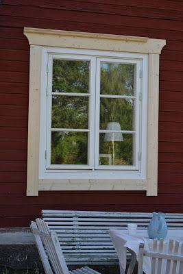 Östragården: Window lining ….