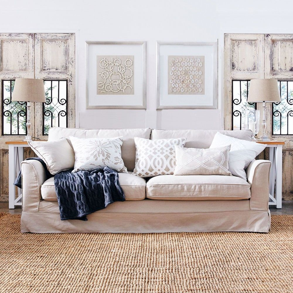 30 Timeless Taupe Home Décor Ideas: Louis XV South Hampton 3.5 Seat Sofa - French Taupe