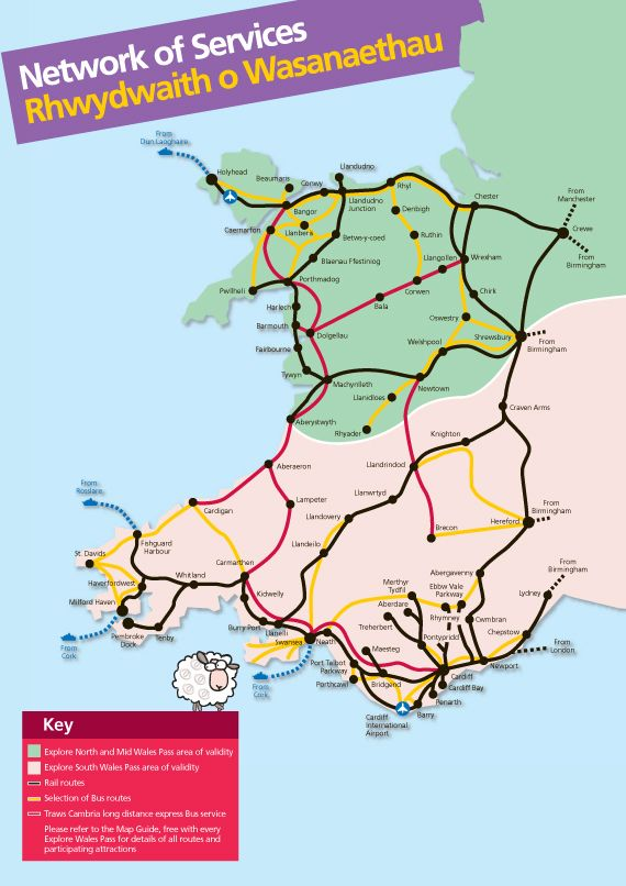 Arriva Trains Wales Map Arriva Trains Wales map | Wales in 2019 | Wales, Wales map, Map Arriva Trains Wales Map