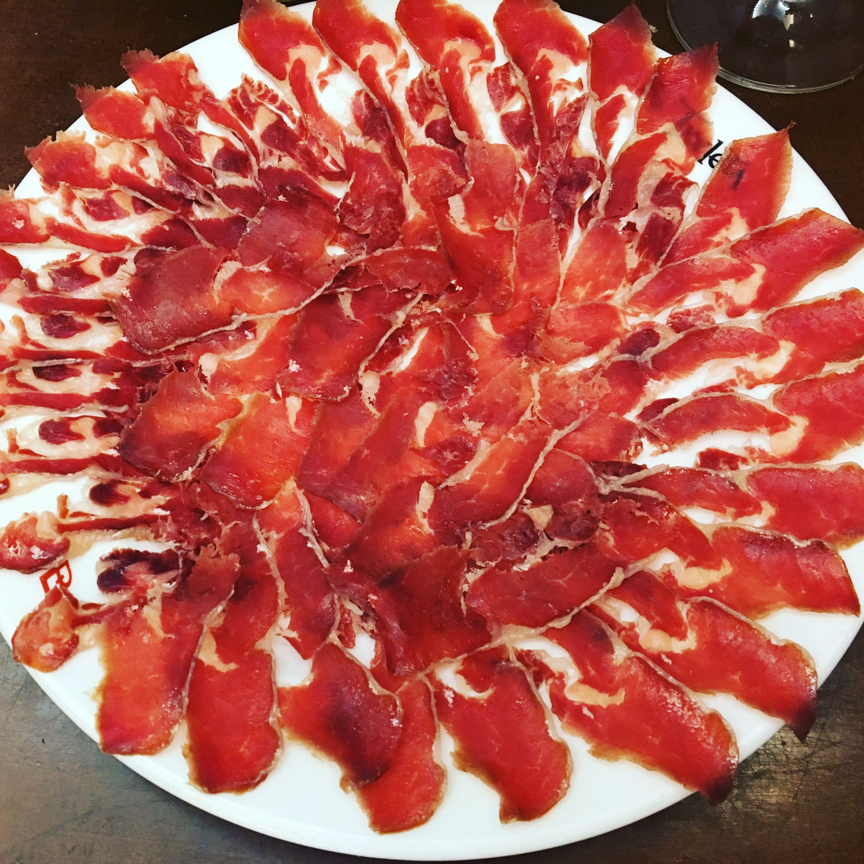 Amazing iberico ham in San Sebastián