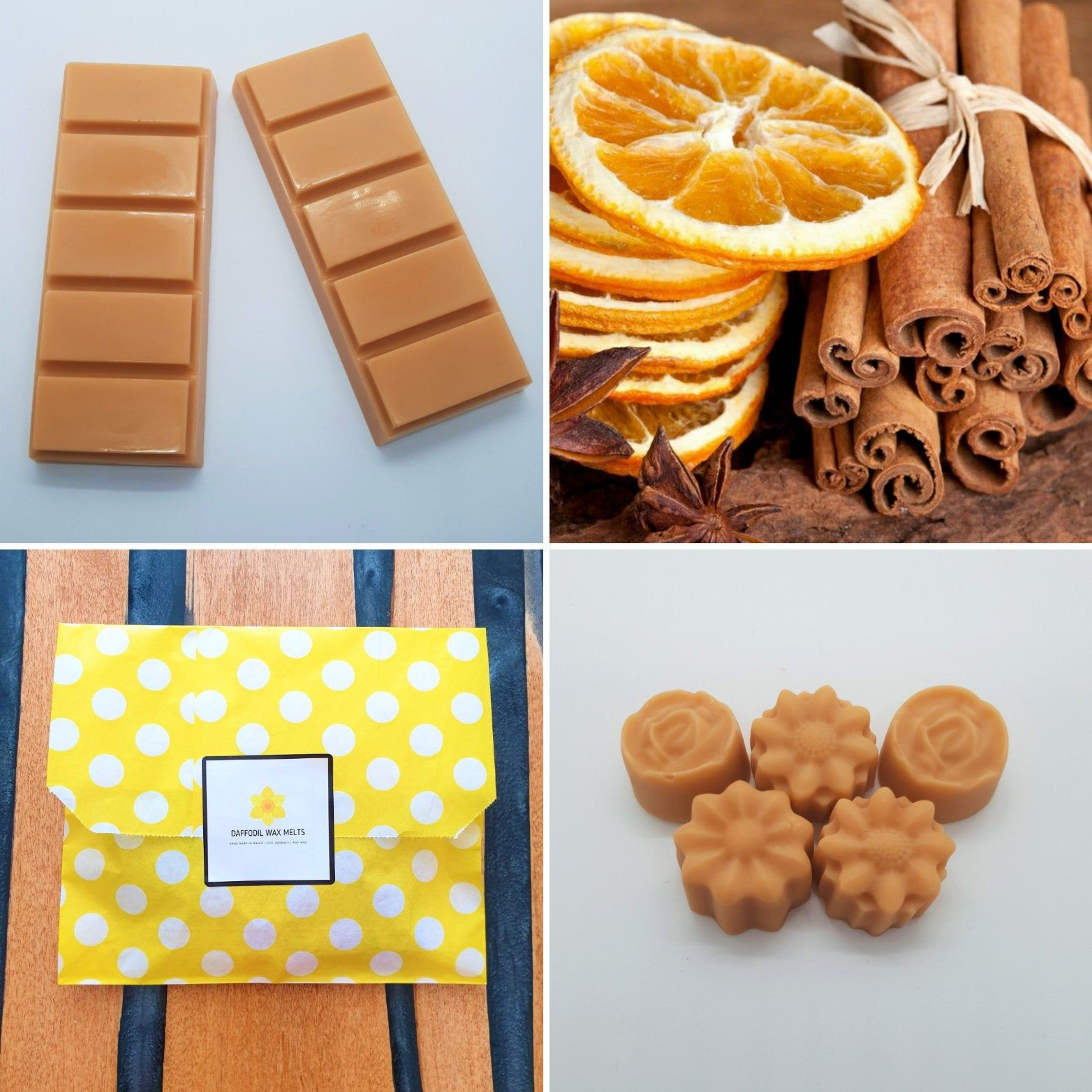 Premium Quality Cinnamon Orange Wax Melts Highly Scented Eco Soy Wax Handmade With Love !