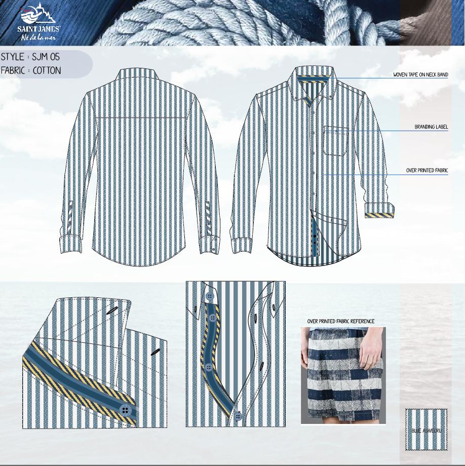 Shirt design sketches - Men S Shirt Flat Sketches