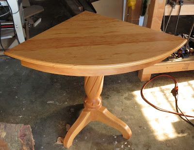 Wonderful DIY Quarter Round Table. Perfect For A Corner Craft Table!