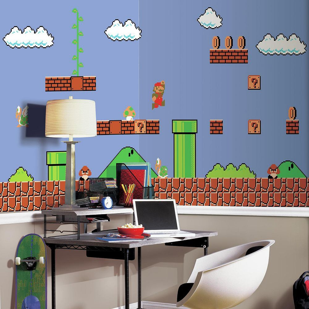 RoomMates Nintendo Super Mario Retro Wall Mural Products