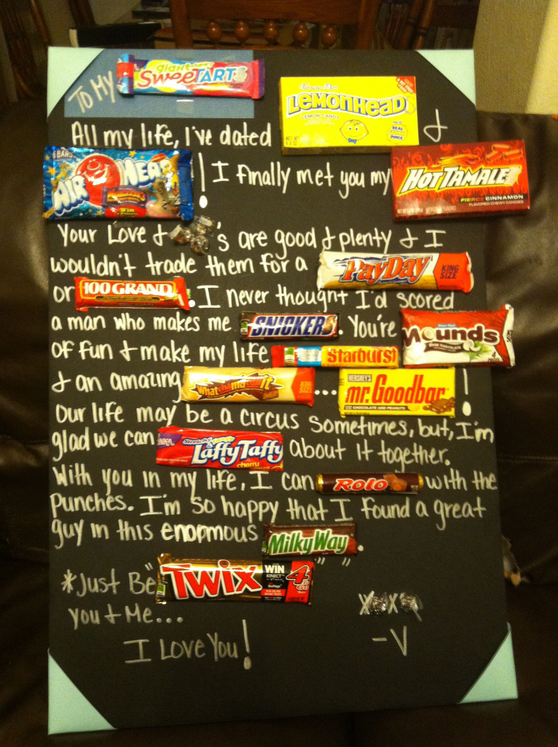Candy bar poem I made for my Boyfriend for our 2yr anniversary – Valentine Card Poems for Him