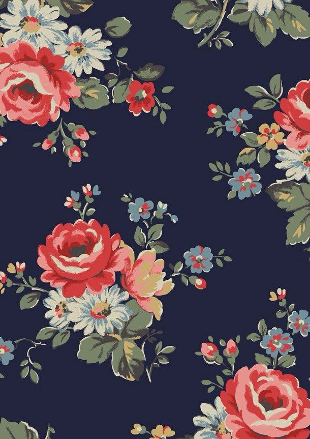 Pin By Maryann Jones On Floral Floral Wallpaper Iphone Floral Print Wallpaper Vintage Floral Wallpapers