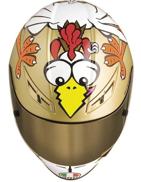 valentino rossi chicken helmet - Google Search