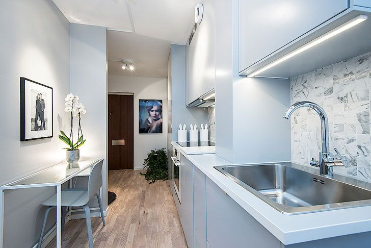 Super Tiny Apartment In Stockholm 25 Sqm Dizajn Interera Kvartiry Kvartira Nebolshie Prostranstva