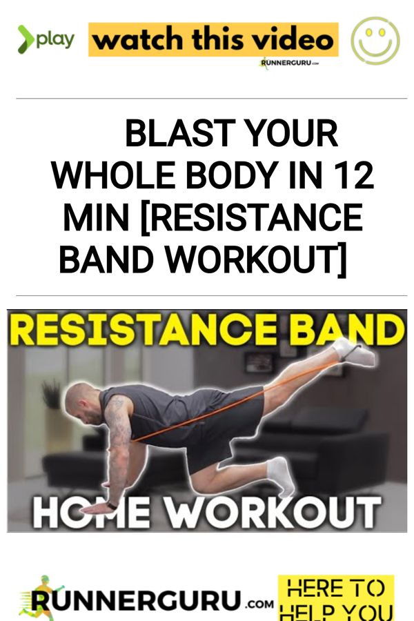 Blast Your Whole Body in 12 min [Resistance Band Workout] | RunnerGuru