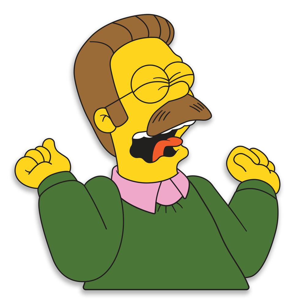 Screaming Flanders Ned Flanders Easy Drawings Aesthetic Stickers