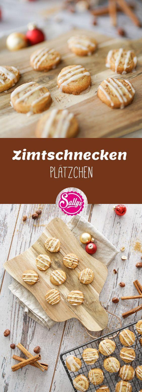 Zimtschnecken Plätzchen / Cinnamon Roll Cookies #christmascookies