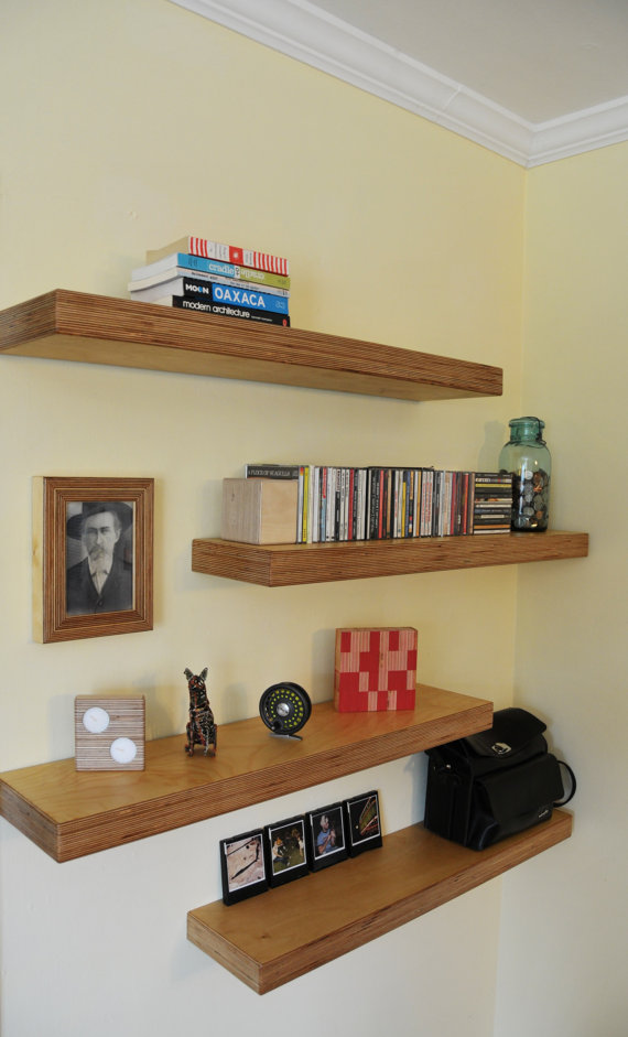 Floating Shelves Provide A Clean Lined Storage Solution Without The Bulk Shelves Are 7 1 X2f 2 Inches Deep And Approxima With Images Floating Shelves Diy Floating Shelves