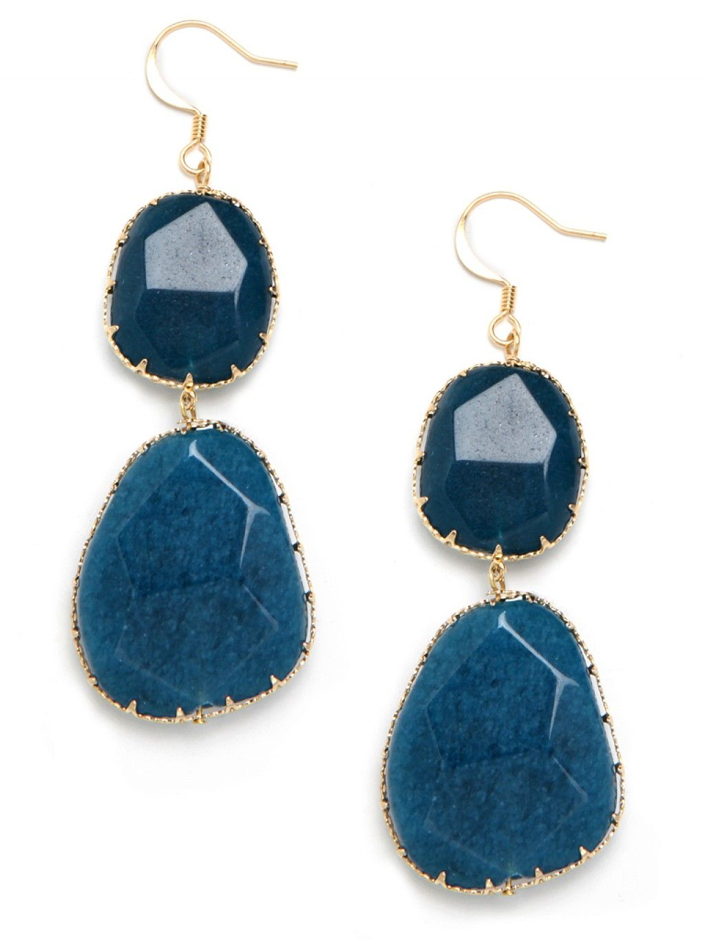 beautiful indigo earrings.  This site - Bauble Bar - has great jewelry