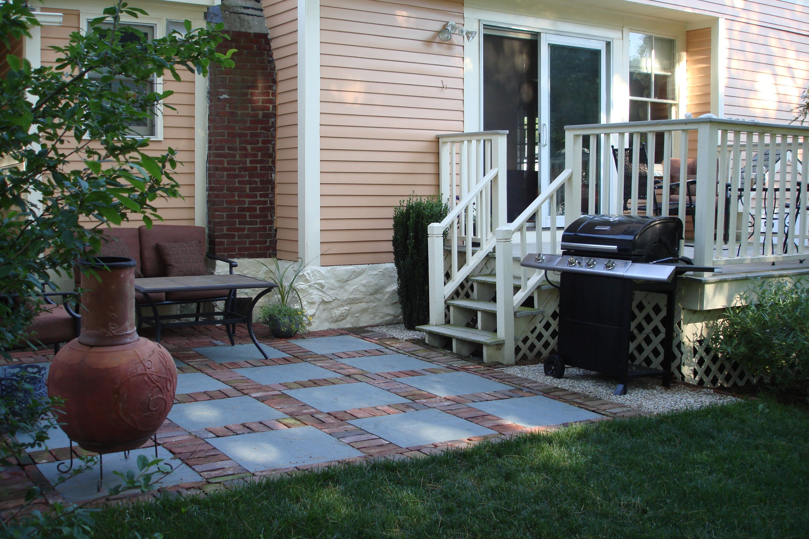 stone patio ideas on a budget find this pin and more on patio garden paver patio
