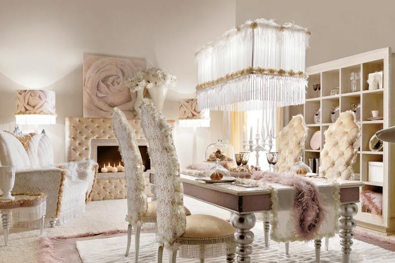 Luxury Dining Room Sets With Chic Chair And Dining Table Cutlery Fair Luxurious Dining Room Decorating Design