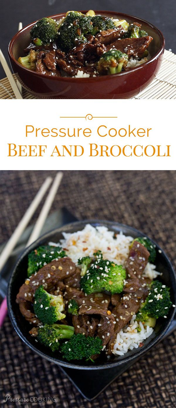 Pressure Cooker (Instant Pot) Beef and Broccoli