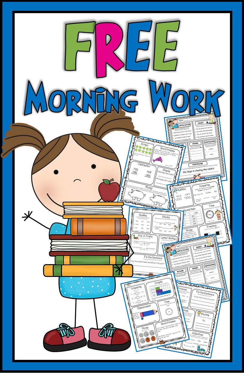 Morning work for second grade--FREE sample pages | Free Educational ...