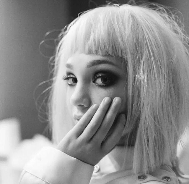 Maddie wondering if she will get to see SIA'S FACE today.