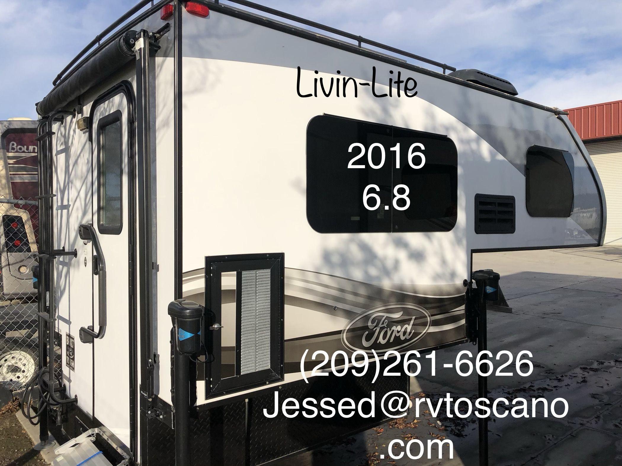 CLEAN USED 2016 LIVINLITE 6.8 TRUCK CAMPER FOR SHORT BED