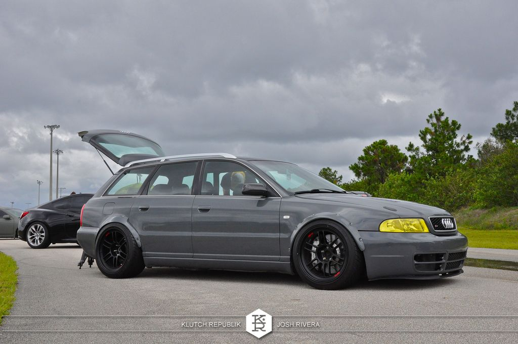 Grey Widebody B5 Audi Avant 2 7tt Rpf1 Slammed Society At