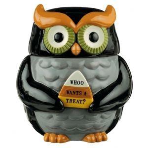469975 Midnight Owl Collection Owl Cookie Jar Kitchen Decor ...
