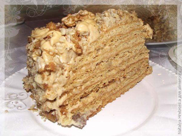 Ореховый медовый торт рецепт