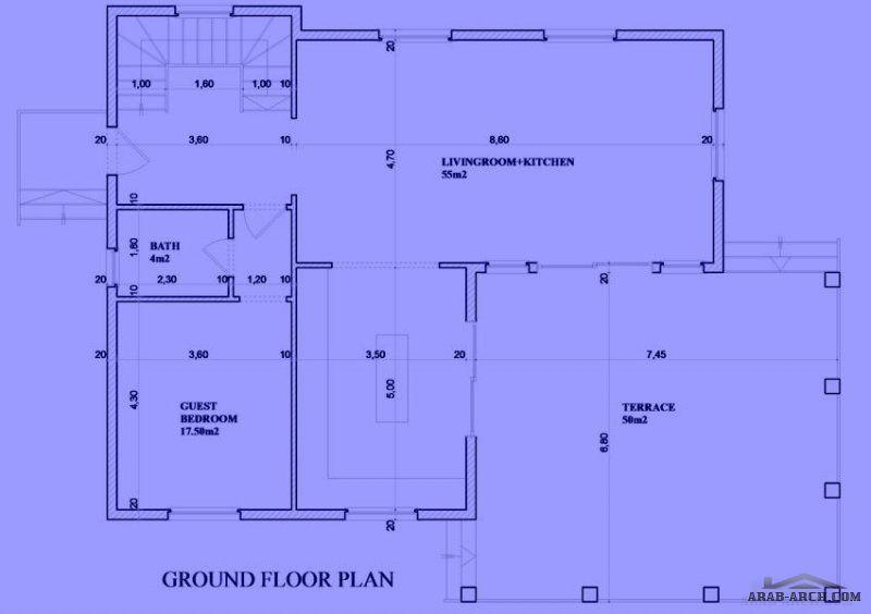 مخطط فيلا 220 M2 غرف 5 1 تصميم تركى Husritningar
